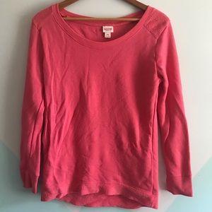 Mossimo supply co melon sweatshirt terry cloth top
